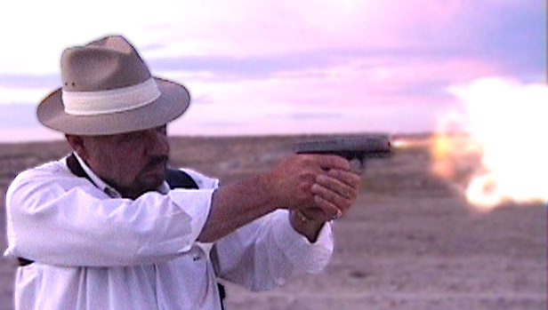 Robert H. Boatman stretching the long legs of his 10mm Glock