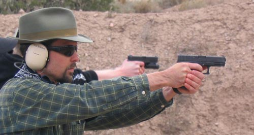 Morgan W. Boatman training at Gunsite in Arizona