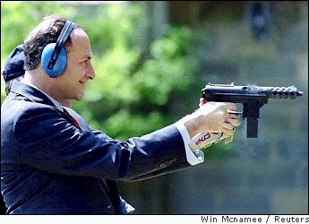 Senator Charles Schumer enjoying a TEC-9 in 1994